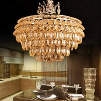 apples project - Genunie Apple K9 Crystal Lights Luxury Amber Pendant Lamp Modern Creative Living Room Hotel Bar Project Lustre Suspension Light