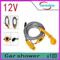 automotive caravans - 2016 Automotive shower DC V Portable Outdoor Camper Caravan Van Camping Travel Car Pet Dog Shower YX DH