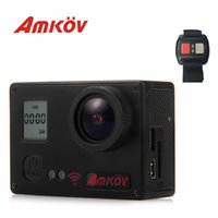 Wholesale Action Camera Amkov AMK7000S K Ultra HD inches TFT WiFi Action Camera DV with Degree View Angle Remote Control Watch
