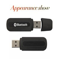 Wholesale 50pcs USB Bluetooth Audio Music Receiver Adapter mm Stereo Output for Car Home Stereo