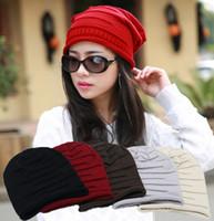 Prezzi Wool hat-stile europeo e americano caldo di vendita Beanie / cranio di protezioni di inverno 7 colori cappelli stile della Corea donne hip hop cappello di lana a maglia yzs168