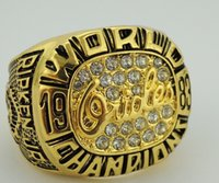 baltimore orioles gifts - Fashion ring Baltimore Orioles World Series Championship Ring Rhinestone crystal gold pleated ring for fans gifts size