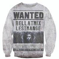 bellatrix lestrange - Raisevern new style vintage design D sweatshirts WANTED Bellatrix Lestrange printed harajuku sweats tops hoodies sudaderas