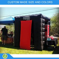 Wholesale YIJIA portable black inflatable photo booth used for wedding party event