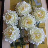 accessories for bouquets - HOT Silk Peony Flower Head Dia cm quot Artificial Flowers Peonia full Open for DIY Birdal Bouquet Headdress Accessories Colors