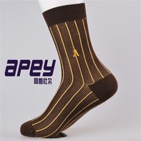 basketball sock styles - APEY British style Men Embroidery socks Cotton male basketball socks Striped Sox socks Mens sports socks for men