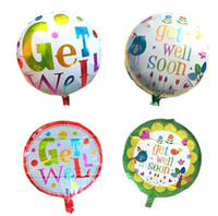 Wholesale smeil helium ballon get well balloons foil getwell ballon get well soon balloon mylar party decorations inch