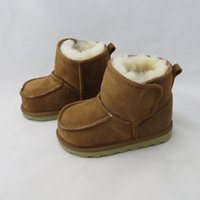 Wholesale Australia Brand Real Goat Fur Baby Boy Winter Snow Boots Kids boys booties for Girls Children Geanuine Leather warm Shoes Age