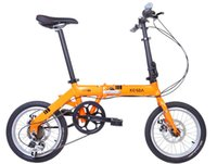 Wholesale L J Sport quot inch Folding Foldable Bicycles bike speed disc braker fast movment on bot wheel and handle Aluminum Alloy frame adjustable
