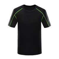 Wholesale Plus Size t shirt Men New Breathable Quick Dry Hiking t shirt Camping Fitness Fishing Running Outdoor Sport T shirt A0521