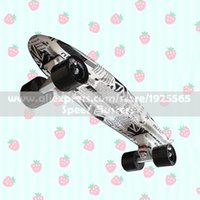 Wholesale MIni Cruiser High Quality Retro Skateboard Starry Sky Pattern Mini Board long board wheels Fish board longboard skateboard PN14