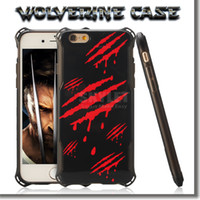 apples origins - For Iphone s Case Wolverine Case Edge TPU And PC Cover Case X MEN ORIGINS Printed Cellphone Case For Iphone s Plus With OPP Package