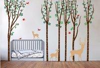 aspen sticker - 2016 NEW Birch Tree Wall Decal Aspen Forest Birds Deer Vinyl Sticker Nursery Art Decor Size