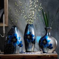 Wholesale Creative Crafts Ceramic Vase Living Room Bar Entrance TV Cabinet Ornaments Home Decorations