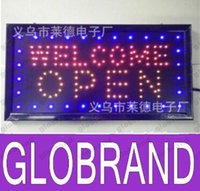 Wholesale Open Welcome LED Neon Sign x13 Now Brighter and Bigger with On off Animation On off Switch Chain GLO652