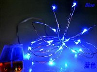 Wholesale Copper Wire LED String M Green Pure White Warm White Red Fairy Lights Lamp With UK US Plug Adapter For Decoration