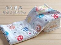 Wholesale Children newborn baby cotton baby bath towel layers of gauze cotton towel super soft blankets mushroom water