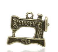 antique singer machines - Retail Antique Bronze Carved quot Singer quot Sewing Machine Charm Pendants x20mm sold per pack of