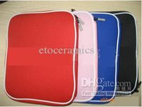 aluminum laptop bag - 50pcs Laptop Sleeve Case Bag For Macbook Aluminum Black Red Blue pink for option
