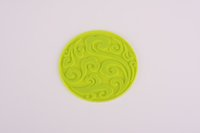 beautiful dirty - 2017 new style beautiful pattern green coaster household use tableware light heathly dirty resistant Eco friendly cm cm Circular mats pads