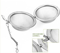 Wholesale 2015100pc Hot Stainless Steel Tea Pot Infuser Sphere Mesh Tea Strainer Ball Z00128