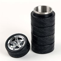 Wholesale The modern automobile tire shaped cup creative home car sealed stainless steel thermos cup