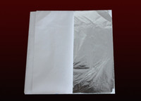 aluminum leaf - 100 sheets X cm Imitation silver leaf sheet foil aluminum leaf