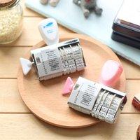 Wholesale 10 DIY stamps Scrapbooking tools Roller Stamp Words and Date carimbo deco zakka material school supplies