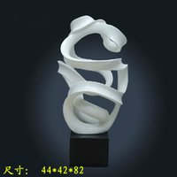 abstract factories - Factory direct sale hot resin abstract sculpture fiberglass resin crafts ornaments engineering decorations in the lobby
