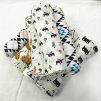 baby organic beds - Baby Muslin Swaddles Ins Wraps Ins Swadding Newborn Ins Blankets Nursery Bedding Organic Cotton Bath Towels Muslin Parisarc Robes Quilt B9