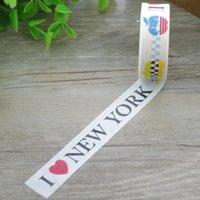 al por mayor manzanas nueva york-Venta al por mayor-2016 Bandera Nacional Americano de Nueva 1x I Love New York Gran Manzana Washi Cultura de la historieta de la cinta DIY decorativo de enmascarar Cinta adhesiva