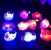 yiwu market - 100pcs LED Light Flash Hairpin Children Headdress New Creative Toys Night Market YH132