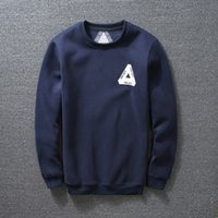 Cheap Fashion autumn winter solid thick fleece sweatshirt hoodies Tide brand PALACE Skateboards basic hoodie casual sports tops black navy blue