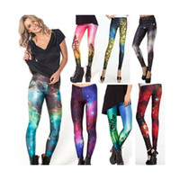 Wholesale The Starry Sky Digital Printing Purple Sheath Sexy Render Pencil Pants Leggings And Retail Galaxies LGS001