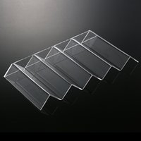 Wholesale New Clear Plastic Storage Boxes High Quality Acrylic Countertop Bottle Wine Racks Wine Stand Wine Holders