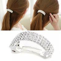 Wholesale ashion Women Girls Bling Headwear Crystal Rhinestone Hair Clip Barrette Hairpin