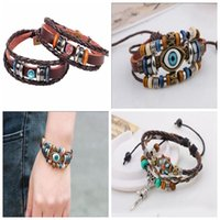 beaded people - Infinite Infinite Charm Bracelets Are Many Styles Of Fashion People Choose Antique Leather Woven Bracelet Beaded Jewelry Pure Handmade