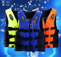 Wholesale Adult children professional swimming jackets Drifting snorkeling fishing clothes Buoyancy vest to send whistling across