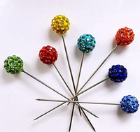 Wholesale 12 new shamballa diamante hijab hat pins craft wedding Bouquet Flower Pins only need