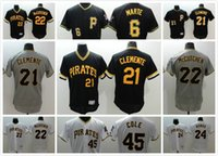 andrew mccutchen shirts - cheap Pittsburgh Pirates Baseball jersey Roberto Clemente Andrew McCutchen Gerrit Cole Marte Throwback Elite Men sport shirt
