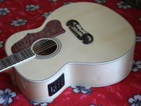 Wholesale Electric Acoustic Guitar Acoustic Electric Guitar Natural With EQ guitar factory Top quality wood