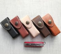 Wholesale Leather Scabbard Swiss Knife Sheath Molle Waist Pack Folding Plier Bag Tools Clip Case Pouch