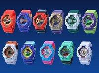 analog digital women s watch - Personality Luxury Brand Designer GA110 Women G Sport Watches Candy Color LED Waterproof Running S Shock Men Wristwatch Ralph
