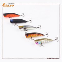 action plastic lures - GT Lure Topwater Action Sea Bait With VMC Hook Popper ABS Plastic D Lure Eyes Fishing Lure