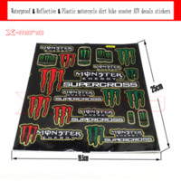 achat en gros de autocollants dirt bike-Réfléchissants étanches Stickers plastique autocollants pour pit bike dirt bike moto VTT supermoto Cross moto scooter