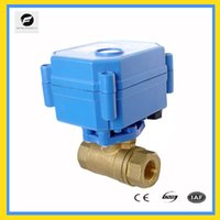Wholesale CWX S DN25 brass way motorized ball valve DC3 v CR05 five wires electric ball valve with feedback signal manual override function
