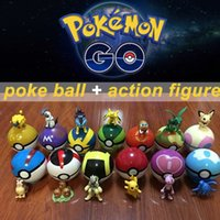 action figure packaging - Zorn toys Poke Pokémon go plastic poke ball action figure Greate ball Ultra ball Master ball style cm Pikachu opp package