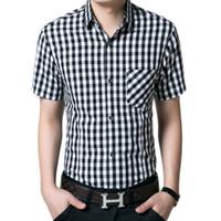 Wholesale Black White Checkered Shirt - Buy Cheap Black White ...