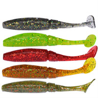 Wholesale New Top Quality Small T Tail Soft Bait mm g Paddle Tail False Bait Soft Maggot Fishing Lure