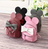 Wholesale Hug Me Girls Backpack New Korean Cute Cartoon Mickey Design Backpack Fashion Bow Girls Bags with Ear MK